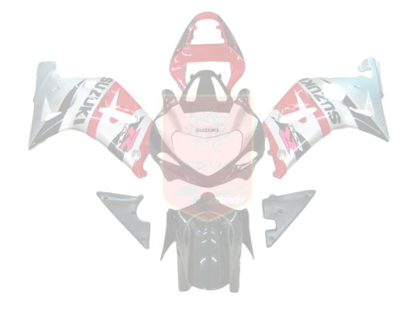 Red/Silver/Black ABS Fairing Set 9pc - Suzuki GSXR600/750 2001-2003