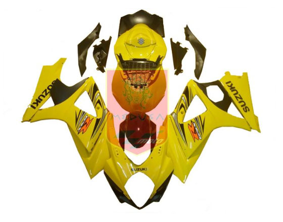 Yellow ABS Fairing Set 25pc - Suzuki GSXR1000 2007-2008