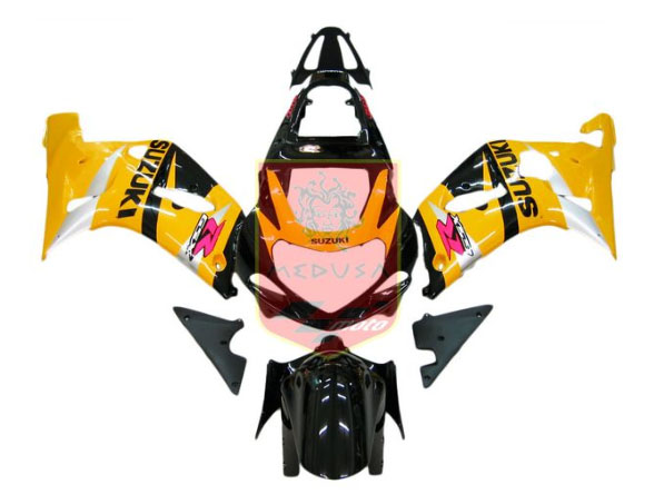 Yellow/Black ABS Fairing Set 9pc - Suzuki GSXR600/750 2001-2003
