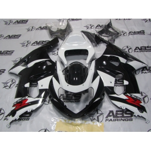 ABS Fairings Black & White - 01-03' GSXR 600/750