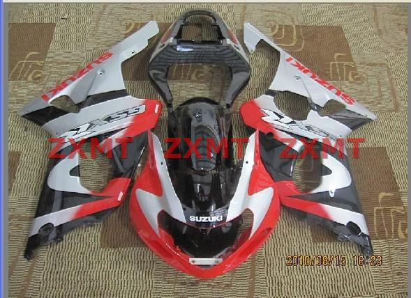 ZXMT Black/Red/Silver ABS Fairing Set 9pc - Suzuki GSXR1000 2000-2002