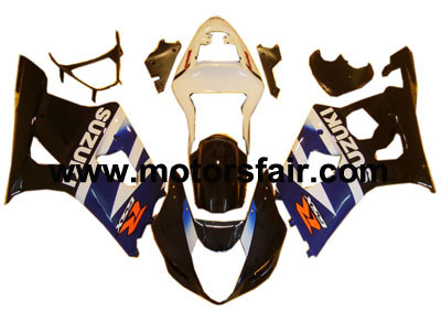 Suzuki GSXR 1000 2003-2004 ABS Fairing - Black/Blue
