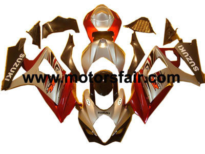 Suzuki GSXR 1000 2007-2008 ABS Fairing - Red/Silver