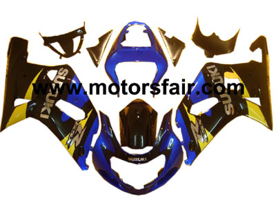 Suzuki GSXR 600/750 2001-2003 ABS Fairing - Blue/Black