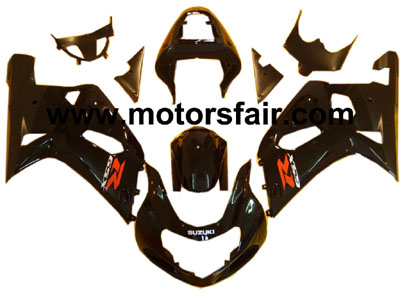 Suzuki GSXR 600/750 2001-2003 ABS Fairing - Black