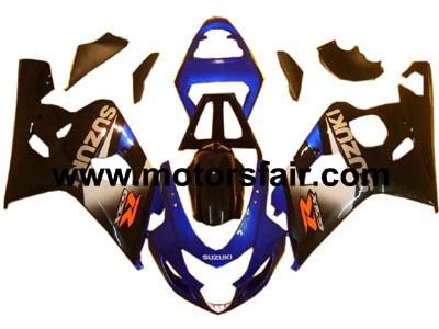 Suzuki GSXR 600/750 2004-2005 ABS Fairing - Blue/Black