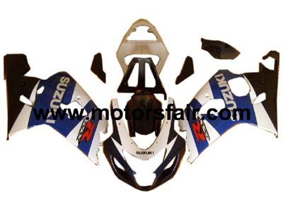 Suzuki GSXR 600/750 2004-2005 ABS Fairing - Blue/Black/White