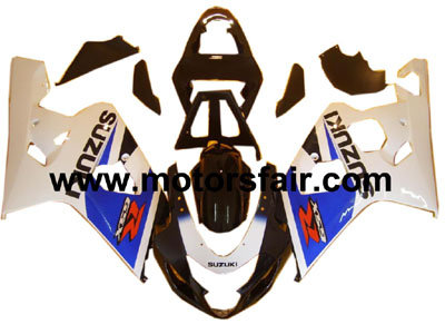 Suzuki GSXR 600/750 2004-2005 ABS Fairing - White/Black