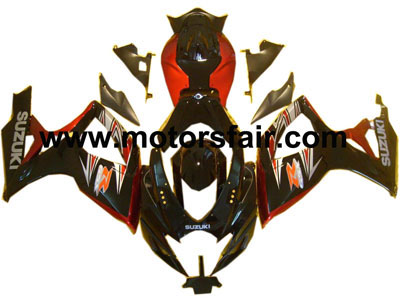Suzuki GSXR 600/750 2006-2007 ABS Fairing - Black/Red
