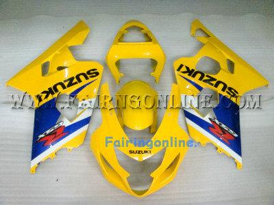 Yellow ABS Fairing Set 13pc - Suzuki GSXR 600/750 2004-2005