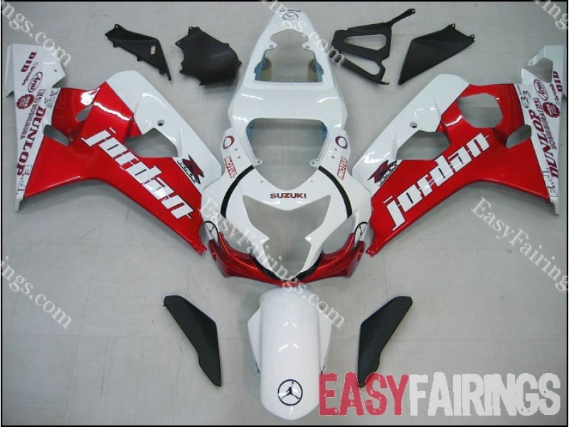 Easy Fairings 2000-2003 Suzuki GSXR 600 & 750 Fairings: Red Jordan Racing (00, 01, 02, 03)