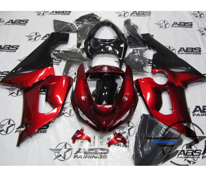 ABS Fairings Deep Red - 05-06' ZX6R