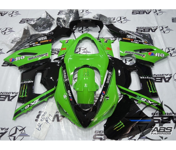 ABS Fairings Green Monster Energy Edition - 05-06' ZX6R