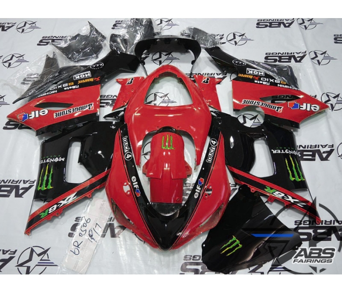 ABS Fairings Red Monster Energy Edition - 05-06' ZX6R