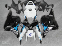 Black/White/Blue ABS Fairing Set - Honda CBR 600RR 2009-2010