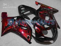 Red Flame ABS Fairing Set K2 - Suzuki GSXR1000 2000-2002
