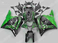 Green Flame ABS Fairing Set - Honda CBR 600RR 2009-2010 **NO AFTERMARKET HONDA LOGOS**