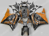 Orange Flame ABS Fairing Set - Honda CBR 600RR 2009-2010 **NO AFTERMARKET HONDA LOGOS**
