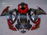 Red/Gray/Black ABS Fairing Set K6 - Suzuki GSXR600/750 2006-2007