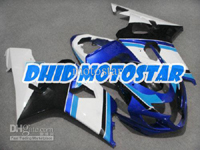 White/Blue ABS Fairing Set K4 - Suzuki GSXR600/750 2004-2005