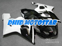 White/Black ABS Fairing Set K4 - Suzuki GSXR600/750 2004-2005