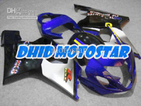Blue/Silver/Black ABS Fairing Set K4 - Suzuki GSXR600/750 2004-2005
