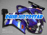 Black/Blue ABS Fairing Set K4 - Suzuki GSXR600/750 2004-2005