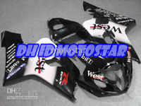 Black West ABS Fairing Set K4 - Suzuki GSXR600/750 2004-2005