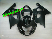 Matte Black ABS Fairing Set K4 - Suzuki GSXR600/750 2004-2005