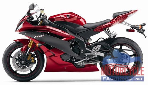 ABS Fairings Deep Red & Black 19pc Fairing Set - Yamaha R6 2006-2007