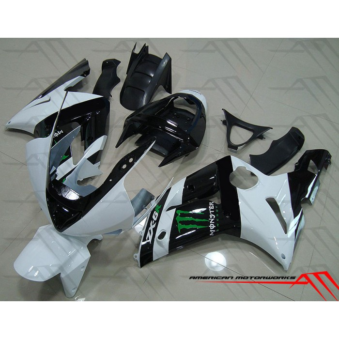 American Motorworks White And Black Monster Energy 03-04 ZX-6R