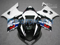 Black/White/Red ABS Fairing Set K3 - Suzuki GSXR1000 2003-2004