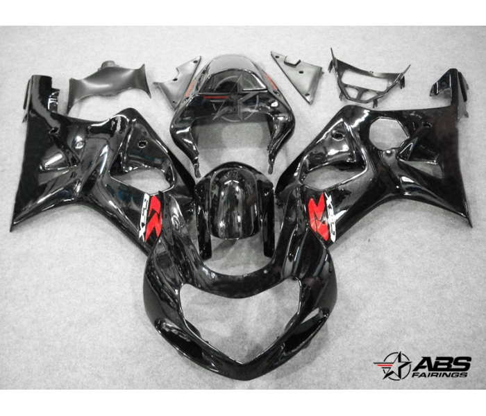 ABS Fairings All Black - 00-02' GSXR 1000