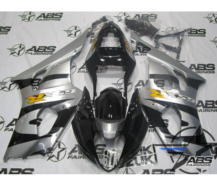 ABS Fairings Black & Silver - GSXR 1000 2003-2004