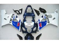 Blue/White Fairing Set 10pc - Suzuki GSXR 600/750 2004-2005