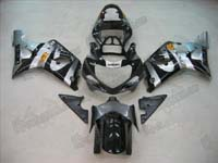 Silver/Black Fairing Set 9pc - Suzuki GSXR 1000 2000-2002