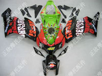 ZXMT Black/Green ABS Fairing Set 19pc - Honda CBR 1000RR 2004-2005***No Honda Logos***