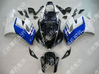 ZXMT Black/Blue/White ABS Fairing Set 19pc - Honda CBR 1000RR 2004-2005***No Honda Logos***