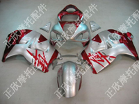 ZXMT Silver/Red ABS Fairing Set 18pc - Suzuki GSXR1300 1997-2007