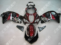 ZXMT Black/Dark Red ABS Fairing Set 18pc - Suzuki GSXR1300 1997-2007