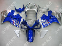 ZXMT Blue/Silver ABS Fairing Set 18pc - Suzuki GSXR1300 1997-2007