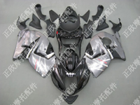 ZXMT Black/Silver ABS Fairing Set 18pc - Suzuki GSXR1300 1997-2007