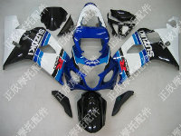 ZXMT Black/White/Blue ABS Fairing Set 10pc - Suzuki GSXR 600/750 2004-2005