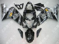 ZXMT Black/Grey ABS Fairing Set 10pc - Suzuki GSXR 600/750 2004-2005