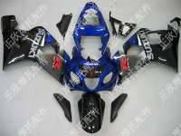 ZXMT Black/Blue/Grey ABS Fairing Set 10pc - Suzuki GSXR 600/750 2004-2005
