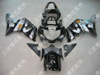 ZXMT Black/Silver ABS Fairing Set 9pc - Suzuki GSXR1000 2000-2002
