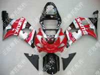 ZXMT Red/Silver ABS Fairing Set 9pc - Suzuki GSXR1000 2000-2002