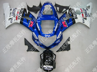 ZXMT Blue/White ABS Fairing Set 9pc - Suzuki GSXR1000 2000-2002
