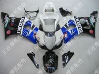 ZXMT Black/Blue/White ABS Fairing Set 9pc - Suzuki GSXR1000 2003-2004