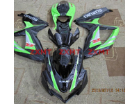 ZXMT Black/Green ABS Fairing Set 29pc - Suzuki GSXR600/750 2008-2009